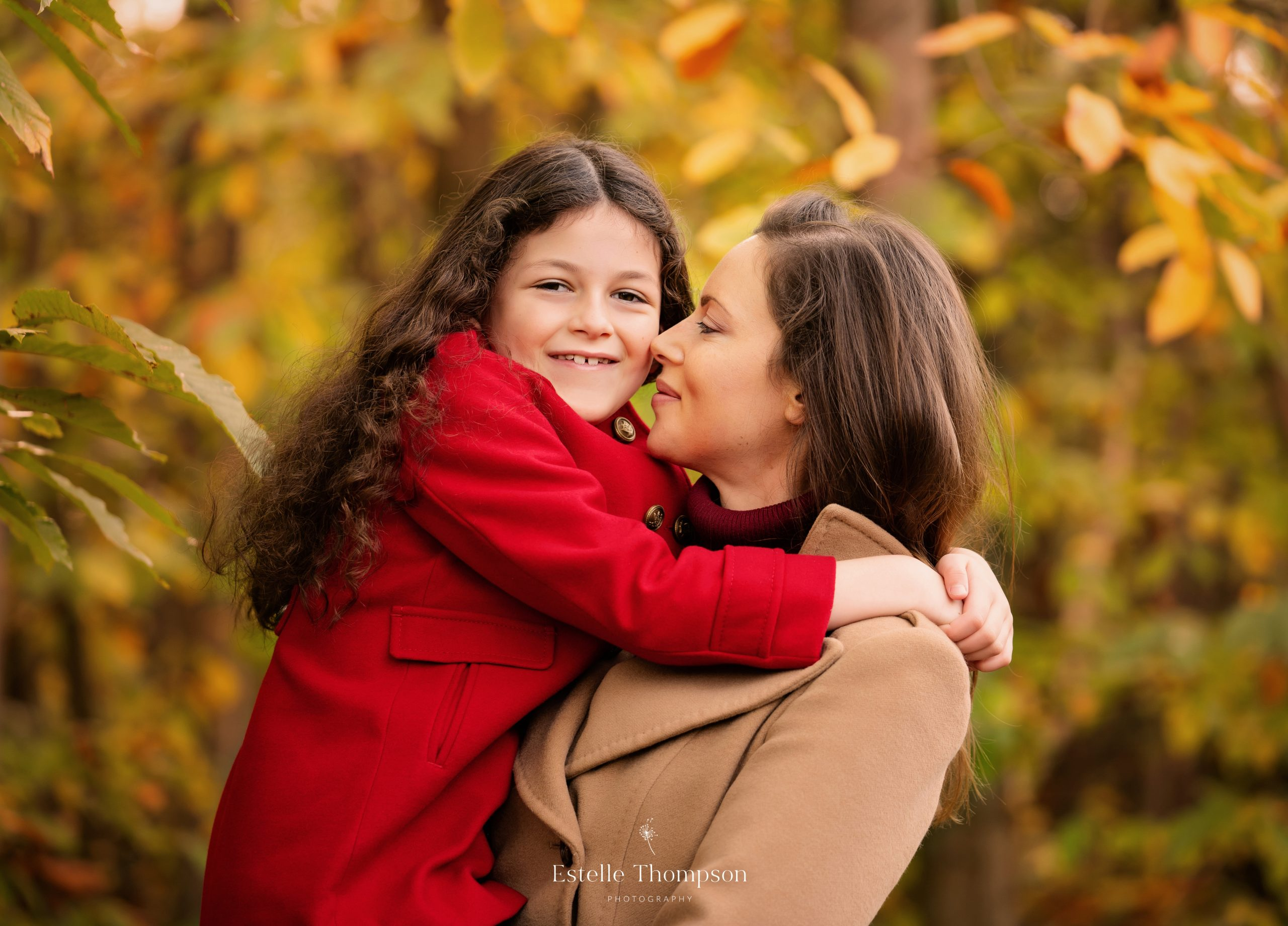 A mother and daughter having a family photography shoot in kent